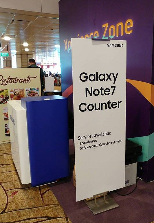 Collection counters setup at the airports.