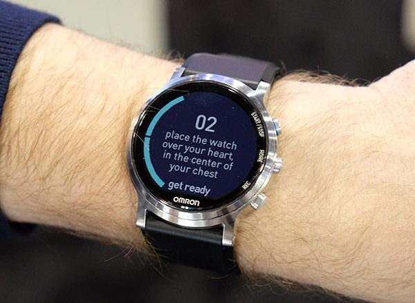 The Omron Project Zero 2.0 is the first smartwatch in the world capable of measuring blood pressure levels.