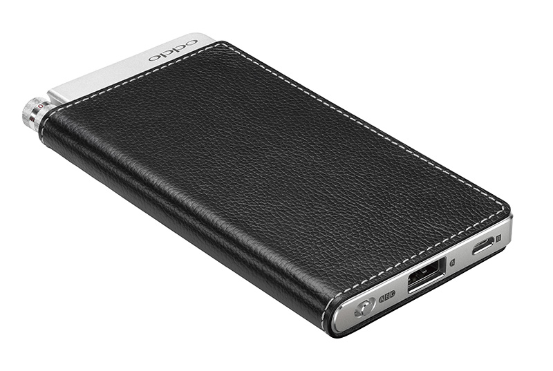The Oppo HA-2SE features a chassis wrapped with genuine leather. (Image source: Oppo)