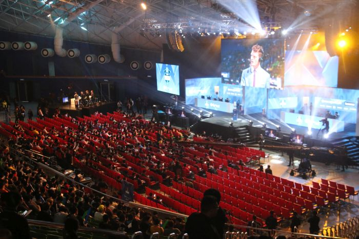 An overview of the ESL One Genting proving grounds.