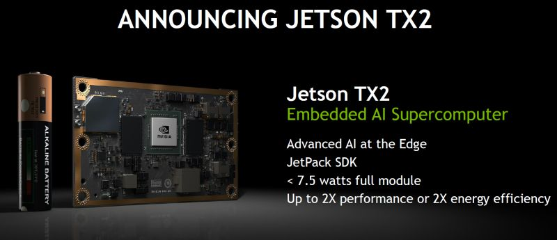 NVIDIA announces its new Jetson TX2 embedded AI supercomputer