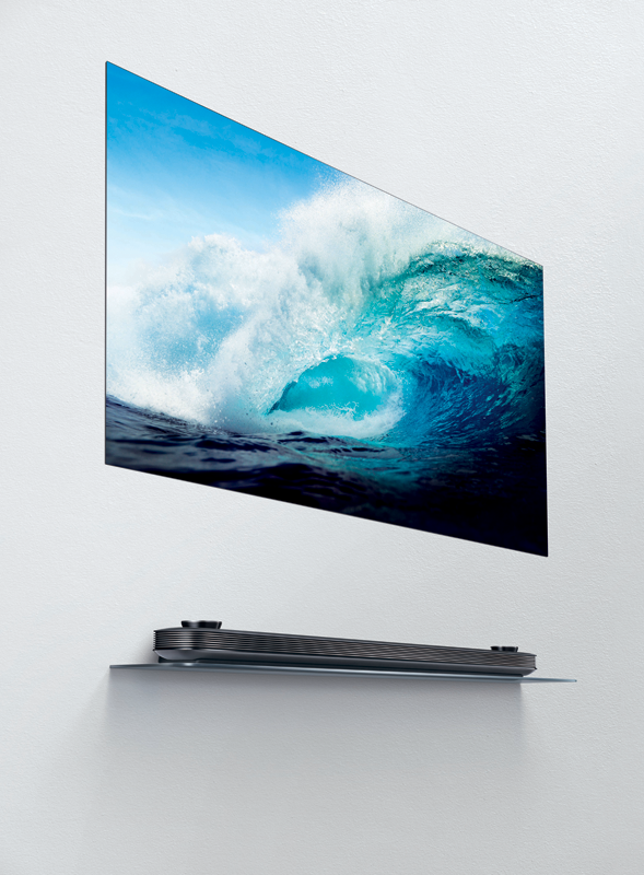 The wafer-thin LG Signature OLED TV W7.