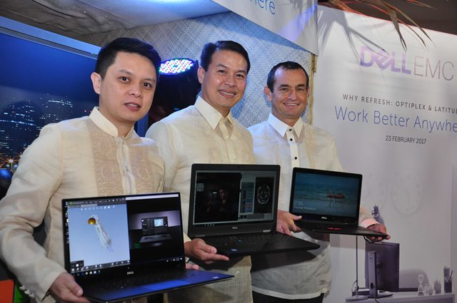 Chris Papa, Channels General Manager, Dell EMC Philippines; Ronnie Latinazo, Country General Manager, Dell EMC Philippines; Paul Henaghan, Vice President, South Asia and Korea, Dell EMC