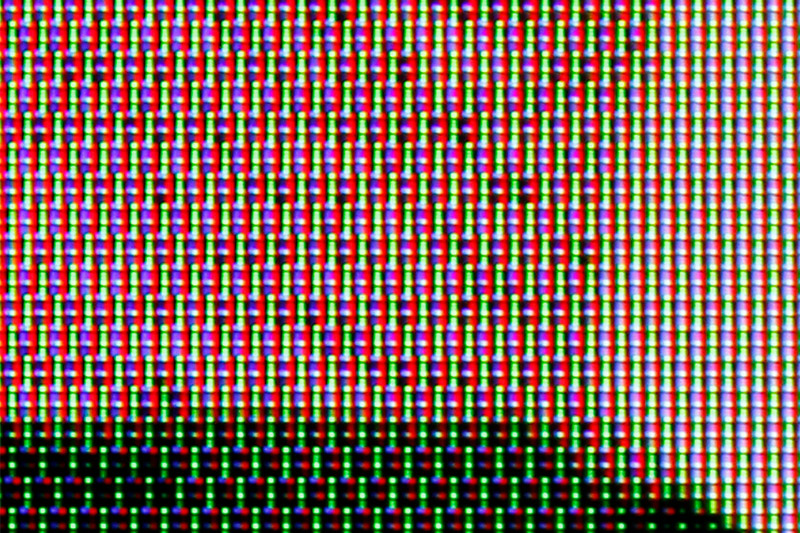 This new cross-hatch pattern-looking sub-pixel layout plays a role in improving the viewing angles.