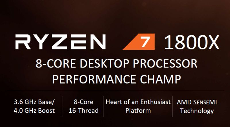 The Ryzen 7 1800X is AMD's King of the hill CPU.