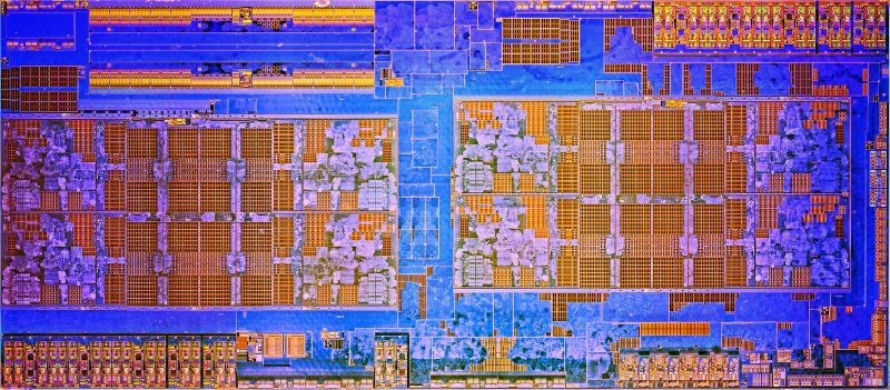 The die shot of AMD's Zen architecture.