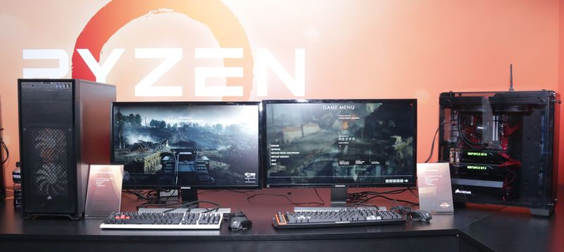 Remember this? It's the same two PCs that first made their appearance at AMD's New Horizon event in December last year.