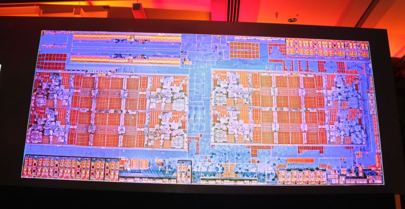 If you ever wondered what the die cutout of the new Ryzen CPU looks like, here's a snapshot for your viewing pleasure.