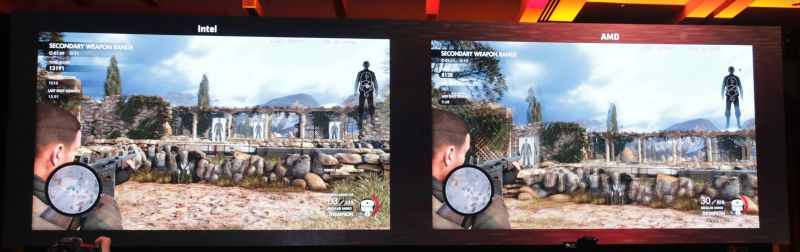 One of the only games used to demonstrate the prowess of the Ryzen 7 1800X was the recently-released Sniper Elite 4.