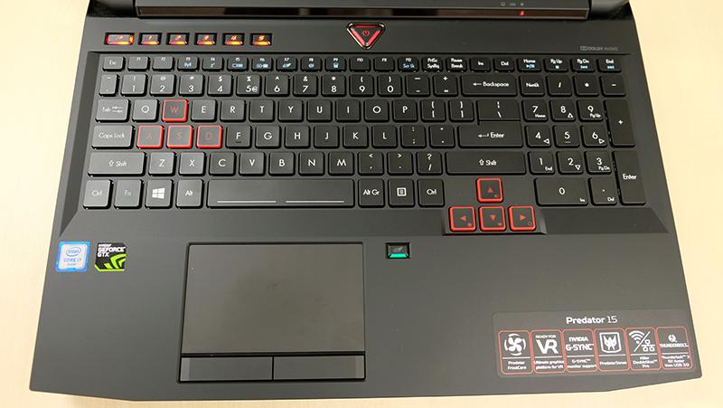 Acer Predator 15 keyboard