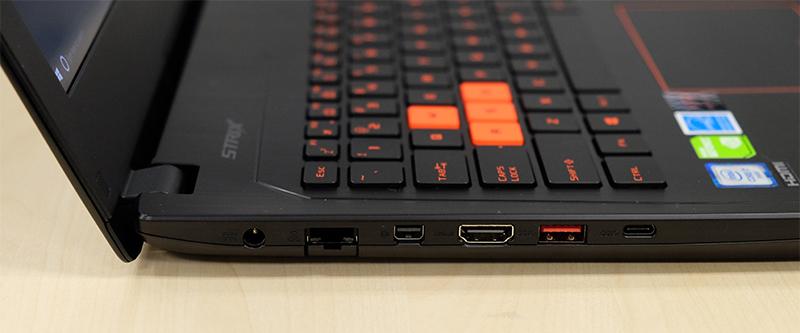 ASUS ROG Strix GL502VM ports