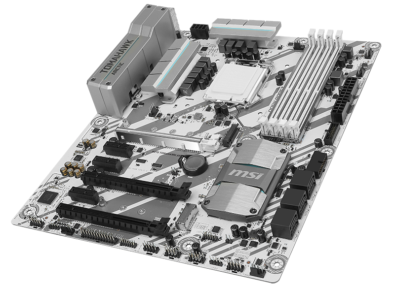 msi unveils four new all white intel 200 series arctic motherboards