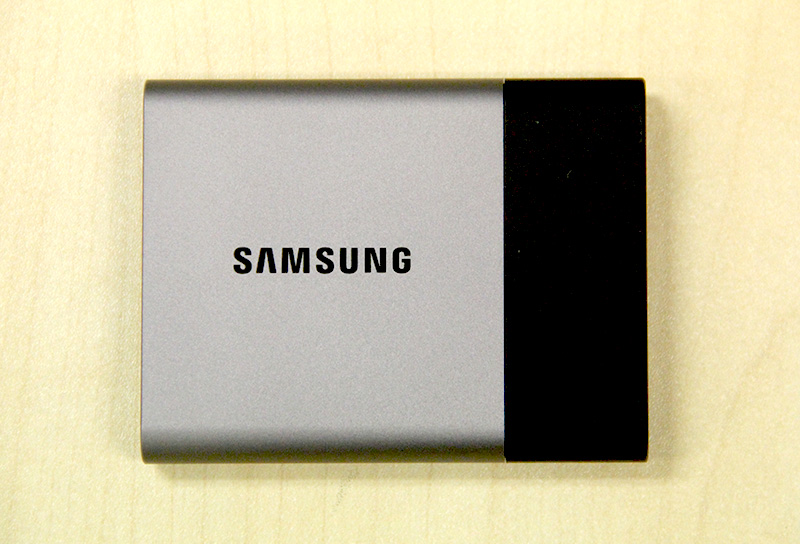 The Samsung T3 features a mostly metal construction and is really small.