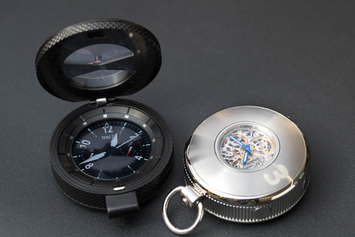 Conceptual Gear S3 hybrid pocket watch.