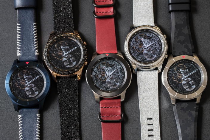New conceptual color variations, materials, and finishes for the Gear S3.
