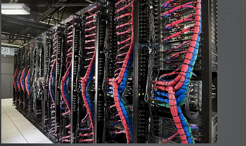 Inside one of the IBM Cloud data centres. (Image source: IBM)