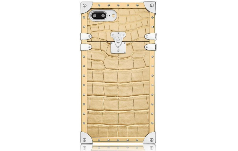 The Eye-Trunk for iPhone 7 in precious Golden Crocodile leather <br> Image source: Louis Vuitton