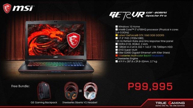msi, msi philippines notebook, notebook, steelseries mouse, headsets, hardwarezone, hwm, philippines