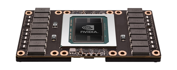 The NVIDIA Tesla P100 GPU. (Image source:NVIDIA)
