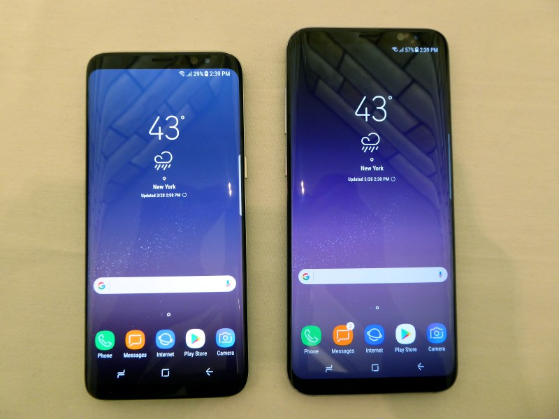 The frontal view of the S8 and S8+ is a sight to behold. In order to eke out as much display as possible, there isn't even the traditional Samsung logo on the front.