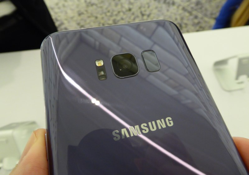 No changes to rear camera hardware, but the fingerprint scanner has been moved next to it.