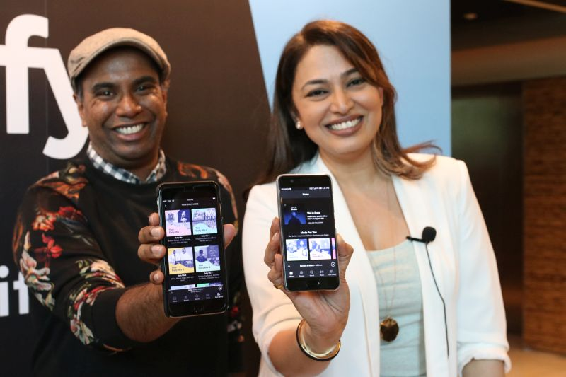 Sunita Kaur, Managing Director, Spotify Asia (right), at the Spotify event.
