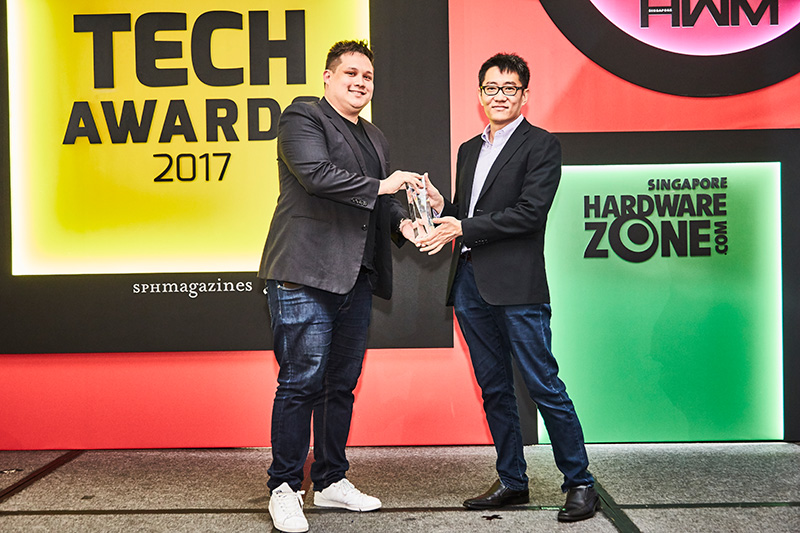 This is the first time we've Readers' Choice for Best Video Streaming Service Provider (Singapore). And the inaugural winner is Netflix. Accepting the award on behalf of Netflix here is Mr. Aaron Kobes from Webershandwick.