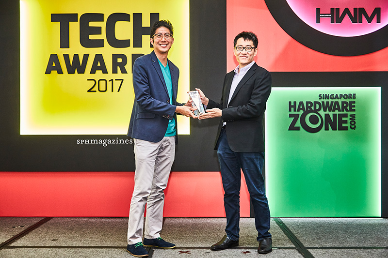 Our readers' favorite pay TV service is still StarHub TV. Accepting the award is Mr. Justin Ang, Head, Product, StarHub.