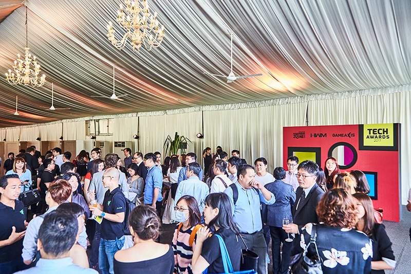 This year's Tech Awards ceremony was held at the picturesque Hotel Fort Canning Grand Marquee.