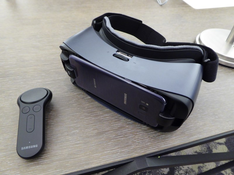 The new Gear VR with Controller that's updated for the Galaxy S8 and S8+.