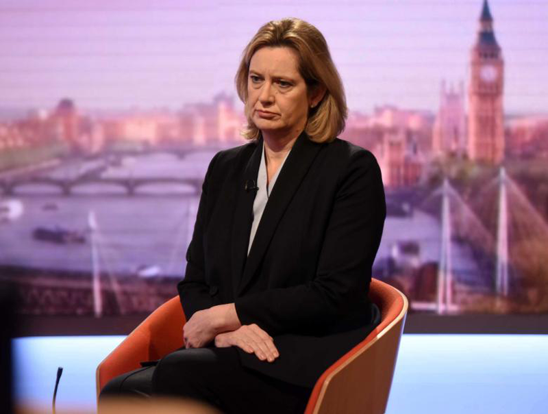 UK Home Secretary, Amber Rudd, on the BBC's Andrew Marr Show. <br> Image source: BBC