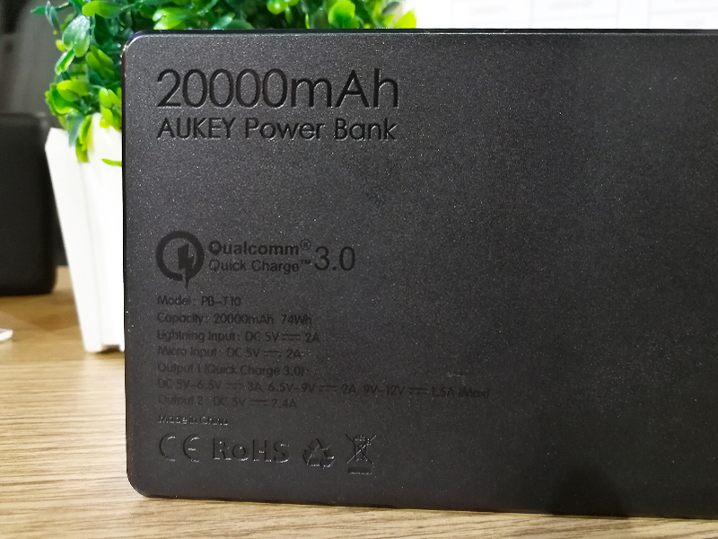 Aukey headlined by 20000mAh power bank with Qualcomm Quick ...