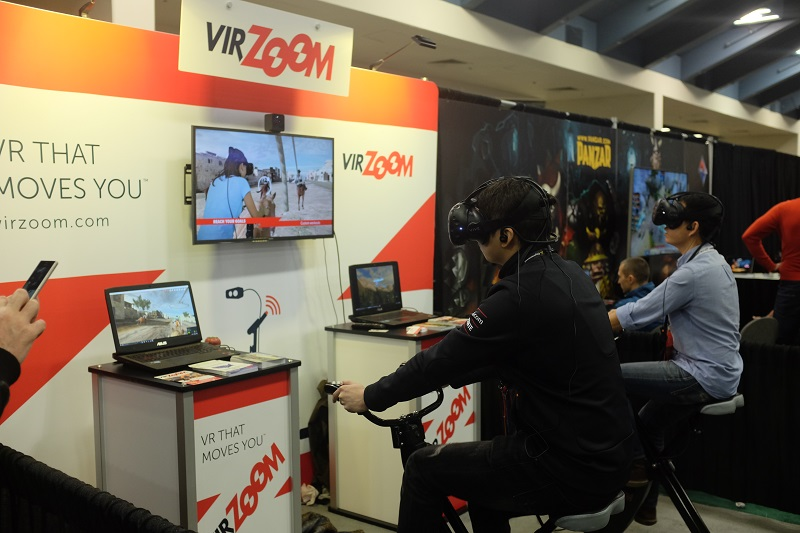What happens when you combine VR with an exercise bike? For US$399.95, VirZOOM provides just about everything (VR headset not included) you need to pedal your way to a healthier you. The bike controller works in tandem with a free collection of arcade games, and you can even track your stats and link them to Fitbit or Strava.