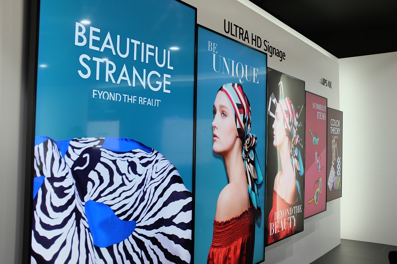 Think big with LG's premium Ultra HD signage options, starting from the 55-inch 55UH5C up to the 98-inch 98LS95A.