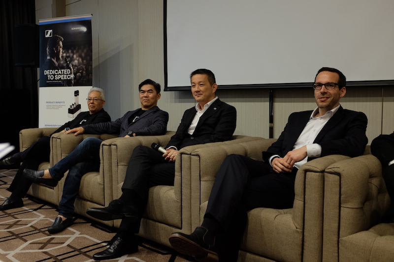 Yap Ming Sin (2nd from left), Director of Tamico Bell Malaysia, and Martin Low (3rd from left), Managing Director of Sennheiser Asia.