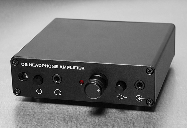 The Objective 2 (O2) headphone amplifier. (Image source: Massdrop)