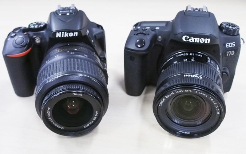 midrange dslr, aps-c camera, nikon d5600, canon eos 77d, pc show 2017, cee 2017