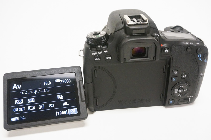 A flip-out LCD lets you use the camera from virtually any angle.