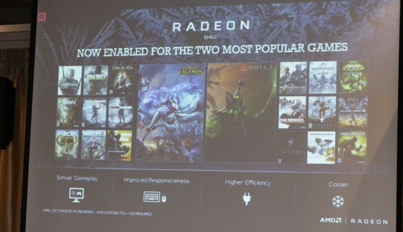 AMD's Radeon Chill feature is back and a mainstay feature on the Radeon RX 500 series GPUs.