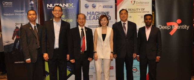 (Left to right):    Toto A. Atmojo, President Director of Defenxor; Teddy Sumulong, Managing Director of CTP; Rachmat Gunawan, Director of CTI Group; Stephanie Boo, Managing Director-APAC of Menlo Security; Pun Kok (PK) Lim, Managing Director for ASEAN of Nutanix and Siva Belasamy, Chief Executive Officer of Deep Identity.