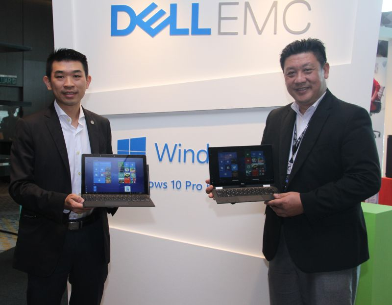 From L-R: Christopher Choong, Field Marketing Manager, Client Solutions Group, Dell Malaysia, and K.T. Ong, Country Manager, Commercial, Malaysia, Dell EMC.