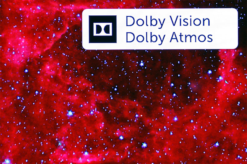 When you see this logo at the top right corner during playback, congrats, you're watching Dolby Vision content and listening to Dolby Atmos audio.
