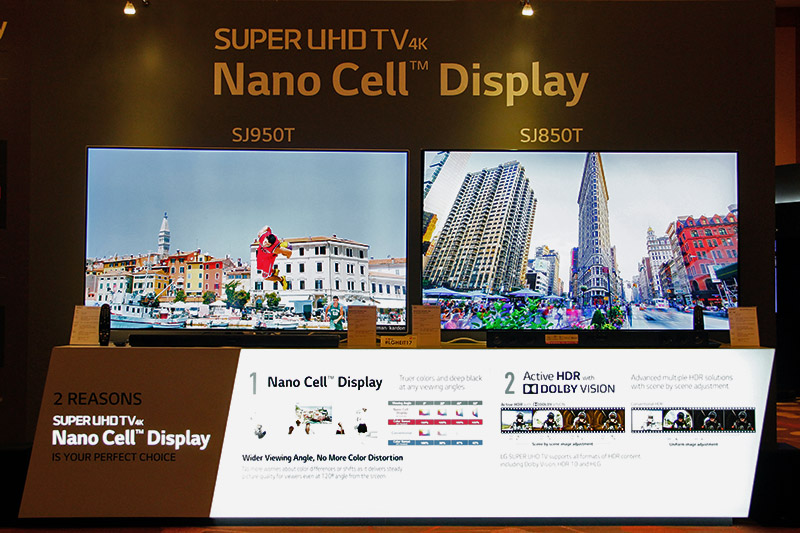 The two biggest draws of this year's Super UHD TVs: better colors due to the Nano Cell tech and better HDR through Dolby Vision.