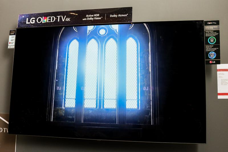 The 55-inch LG C7T 4K OLED TV.