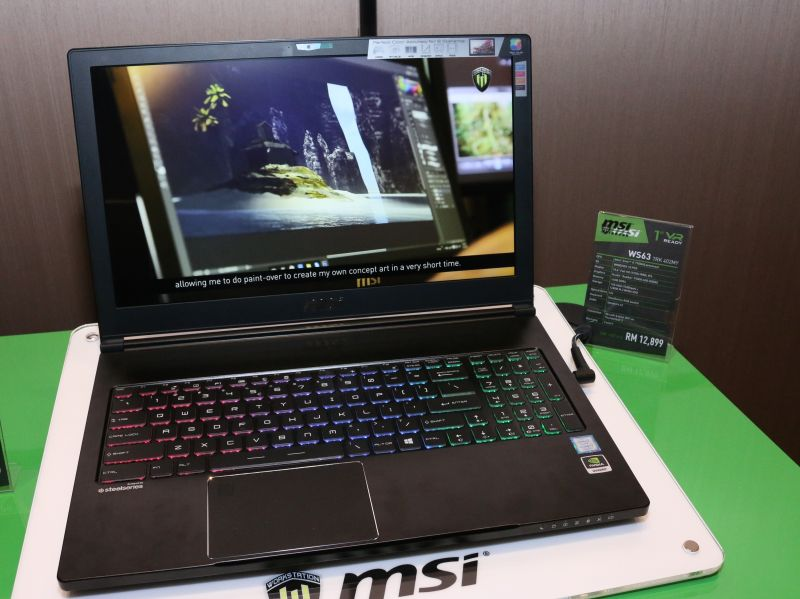 The MSI WS63 is still a VR Ready machine, despite the absence of the VR moniker in its name.