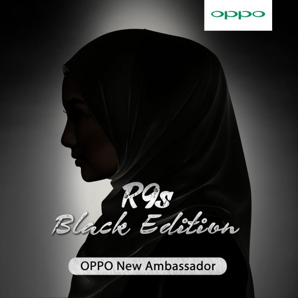 Behold, the new ambassador for the Oppo R9s Black Edition. We just don't know whose silhouette that is. <br> Image source: Oppo.