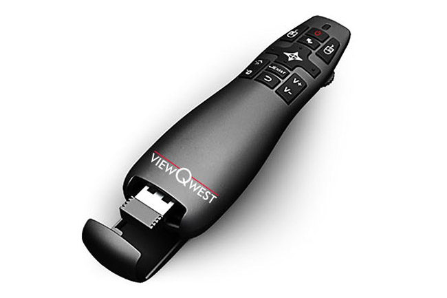 """Navigating the UI is easier with this remote that has an """"air mouse"""" feature. The box also comes with a regular TV-type remote that has more buttons for controlling the digital TV functions. (Image source: ViewQwest.)"""