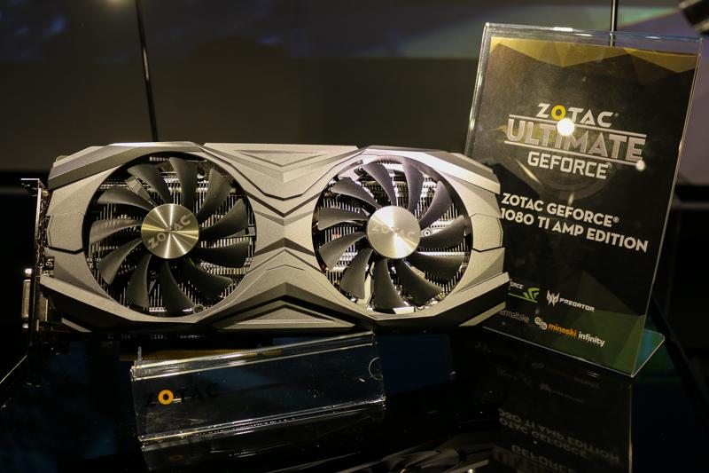 The Zotac GeForce GTX 1080 Ti AMP Edition.