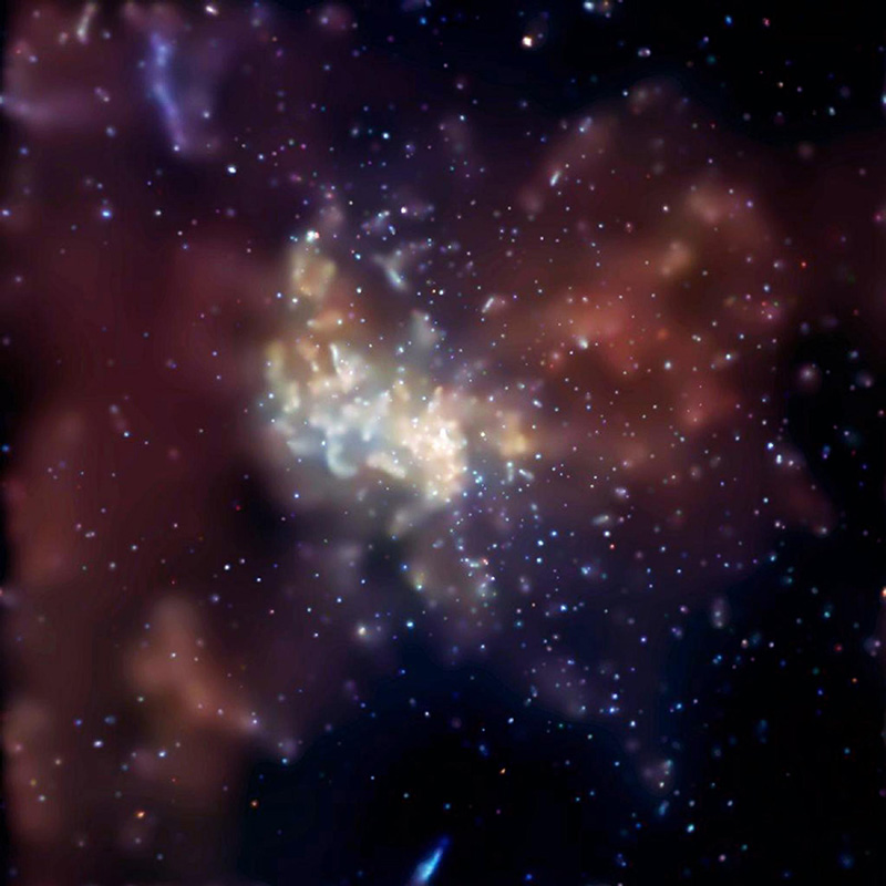 A super massive black hole at the center of the Milky Way known as Sgr A*.
