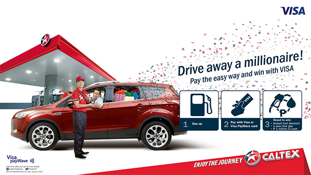 "To celebrate their partnership, Chevron and Visa announced the ""Drive Away a Millionaire"" promo."